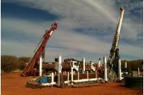 RC Drilling Rig and Diamond Drilling Rig working together at Arafura in the Northern Territory