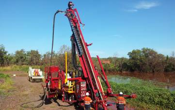 Drillwest's Rig One Schramm T450H RC Drilling Rig